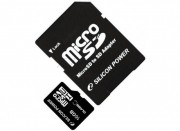 Silicon Power 16GB Flash microSDHC Class 4+adapter (SP016GBSTH004V10-SP)