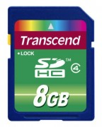 Transcend 8GB NAND Flash SDHC (SD2.0 Class 4) (TS8GSDHC4)