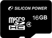 Silicon Power 16GB Flash microSDHC Class 4 no adapter (SP016GBSTH004V10)