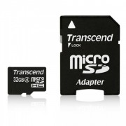 Transcend 32GB NAND Flash Micro SDHC Class 4 with SD adapter (TS32GUSDHC4)