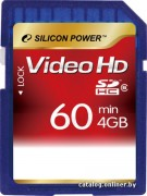 Silicon Power 4GB Flash SDHC Class 6 (SP004GBSDH006V30)