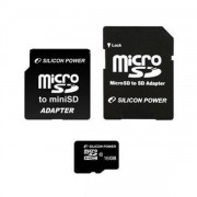 Silicon Power 16GB Flash microSDHC Class 4+2 adapter (SP016GBSTH004V30)
