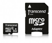 Transcend 8GB NAND Flash Micro SDHC Class 6 with adapter (TS8GUSDHC6)
