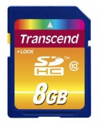 Transcend 8GB NAND Flash SDHC Class 10 (TS8GSDHC10)