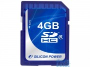 Silicon Power 4GB Flash SDHC Class 6 (SP004GBSDH006V10)