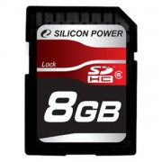 Silicon Power 8GB Flash SDHC Class 6 (SP008GBSDH006V10)