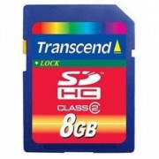 Transcend 8GB NAND Flash SDHC (SD2.0 Class 2) (TS8GSDHC2)