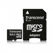 Transcend 8GB NAND Flash Micro SDHC Class 4 with adapter (TS8GUSDHC4)