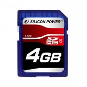 Silicon Power 4GB Flash SDHC Class 4 (SP004GBSDH004V10)