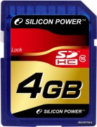Silicon Power 4GB Flash SDHC Class 10 (SP004GBSDH010V10)