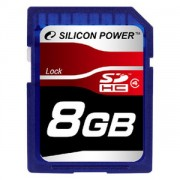 Silicon Power 8GB Flash SDHC Class 4 (SP008GBSDH004V10)